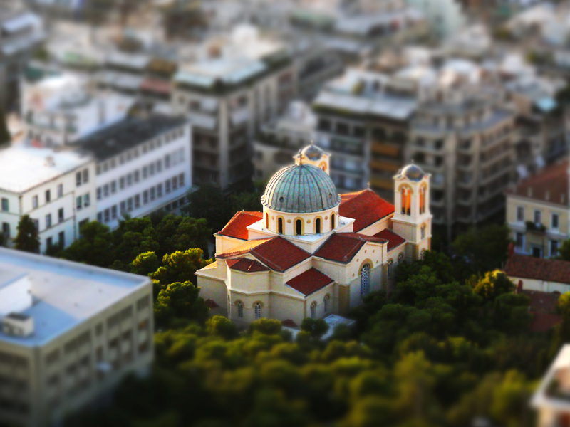 Grecia tilt-shif